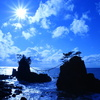 冬晴れの機具岩(hatagoiwa)