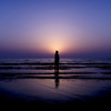 『Magic Hour portrait silhouette』