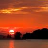 九十九島に沈む夕陽