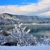 余呉湖の冬景色