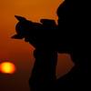 夕焼けカメラマン