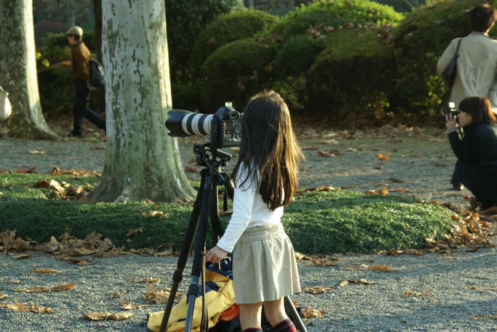 通りすがりに見かけた・・・・・カメラマン!?