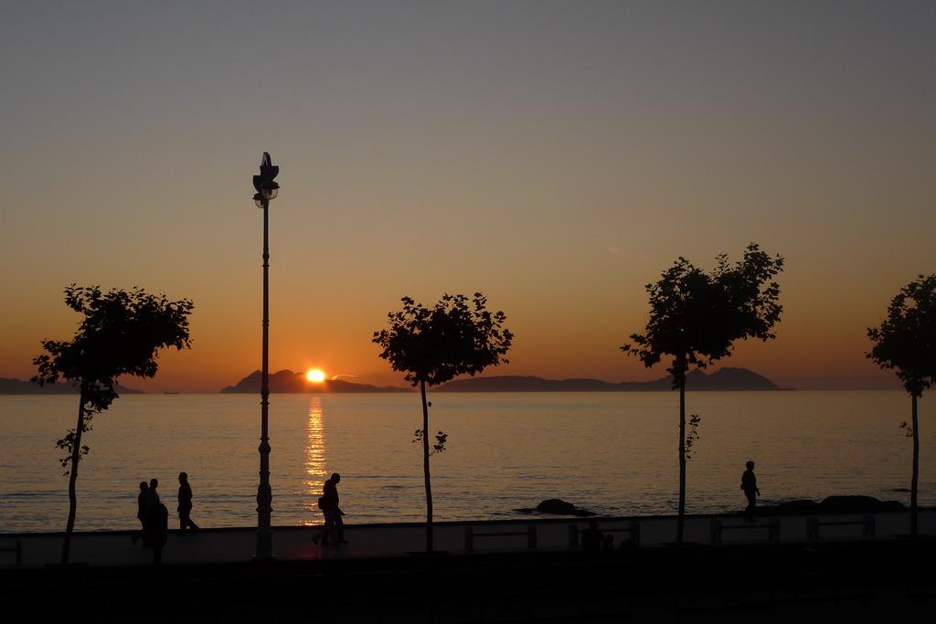 大西洋に沈む夕日