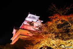 鶴ヶ城と紅葉