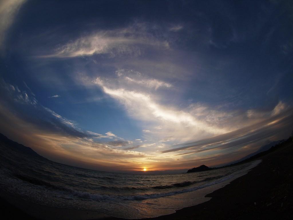 晩春の夕陽