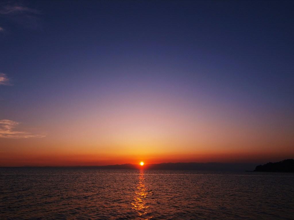 陽が沈む・・・