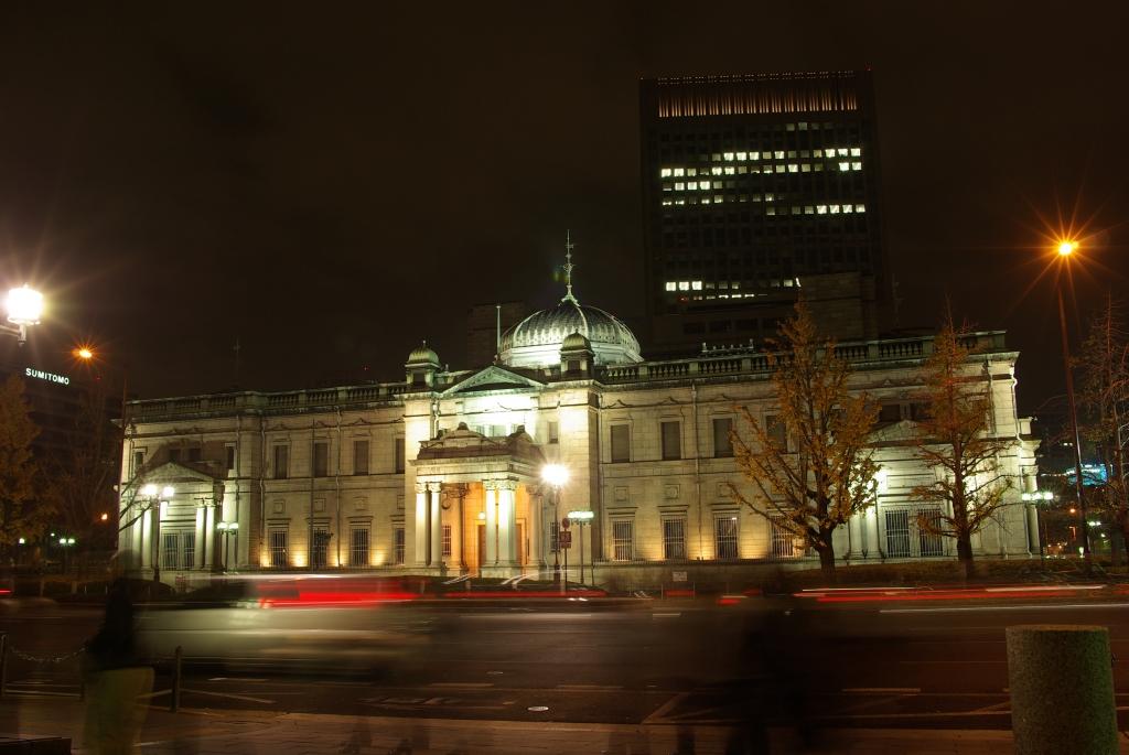 日本銀行大阪支店ライトアップ