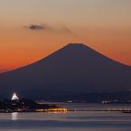 CANON Canon EOS 5D Mark IIで撮影した(披露山公園より夕景富士 /2)の写真(画像)