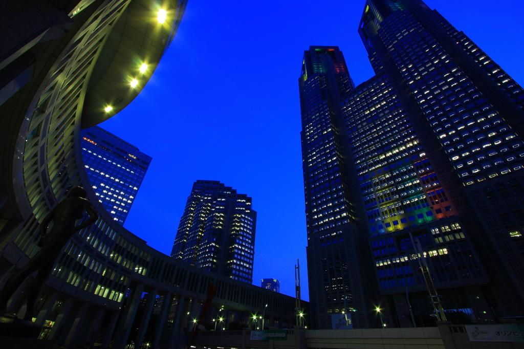 都庁舎五輪ライトアップ
