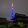なでしこジャパン応援東京タワー特別ライトアップと増上寺大殿・光摂殿