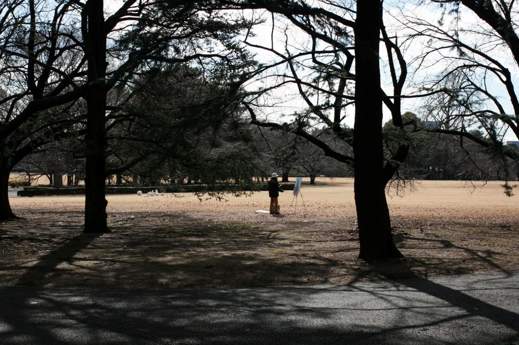 新宿御苑の絵描き-2008年01月24日-