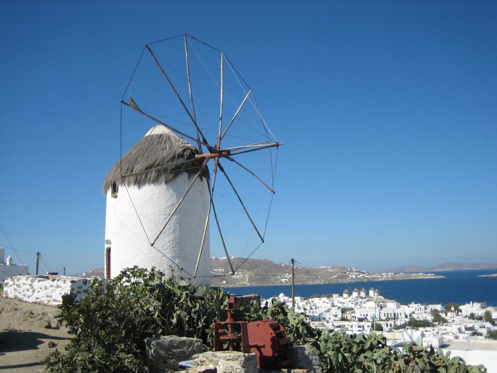 ミコノスの風車