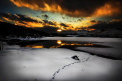 silence of a white lake