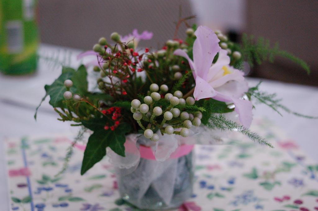 テーブルの花