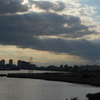 多摩川にかかる大師橋から