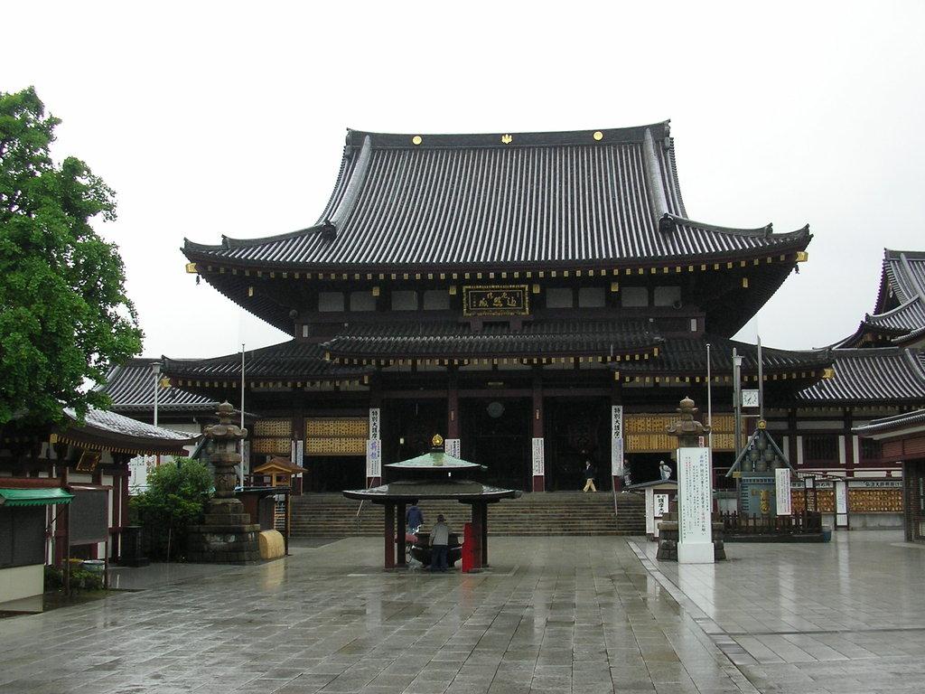 雨の川崎大師