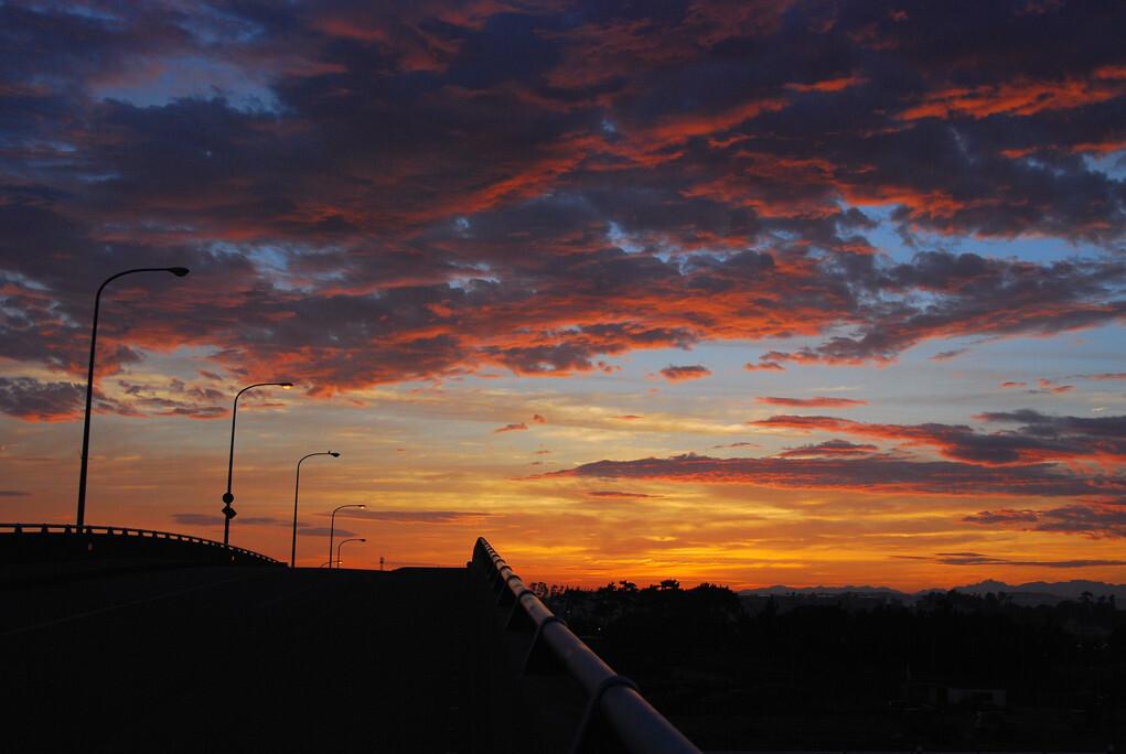 朝陽の前に♪