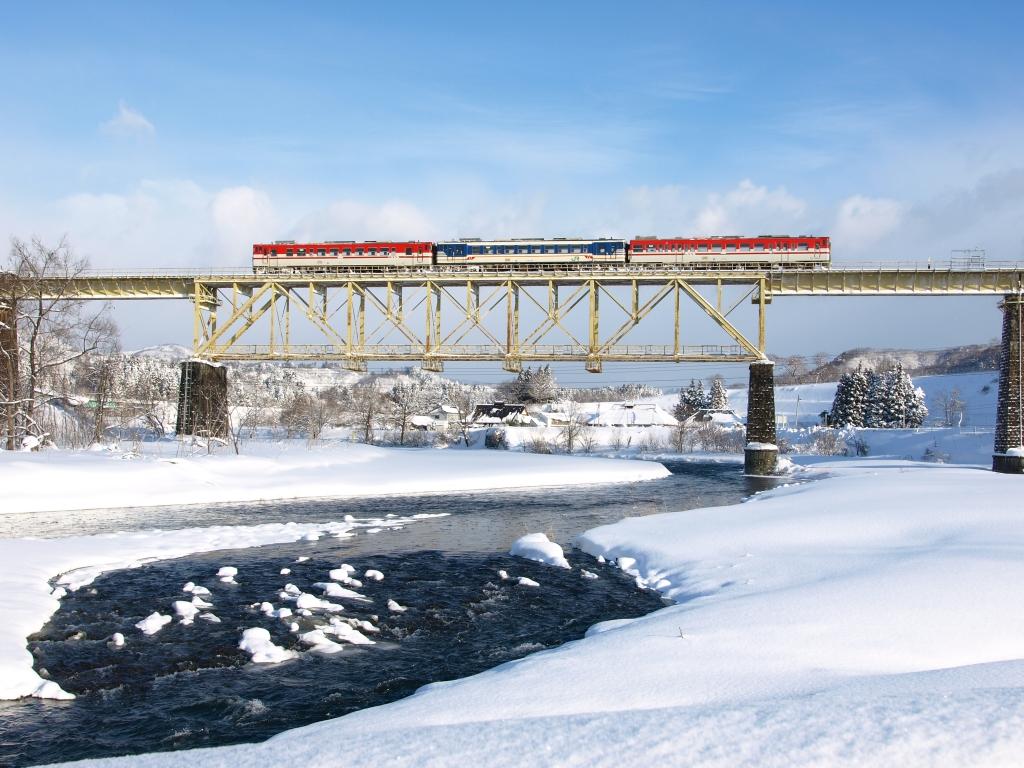 冬の一戸橋梁