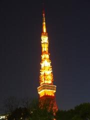 東京タワーと星のあるブルーな空