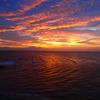 東京湾の日没