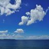 夏色の空と海