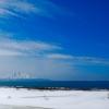 青と白の風景