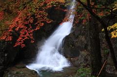紅葉と銅穴の滝
