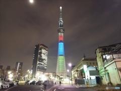 東京2020パラリンピック1000日前ライティング