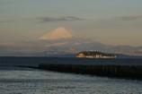 朝焼けの江ノ島