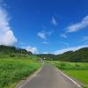 真夏の田舎道