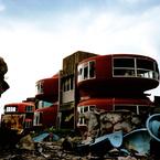 その他のカメラメーカー その他のカメラで撮影した建物(UFO屋敷と瓦礫の山 -LOMO  LC-A-)の写真(画像)
