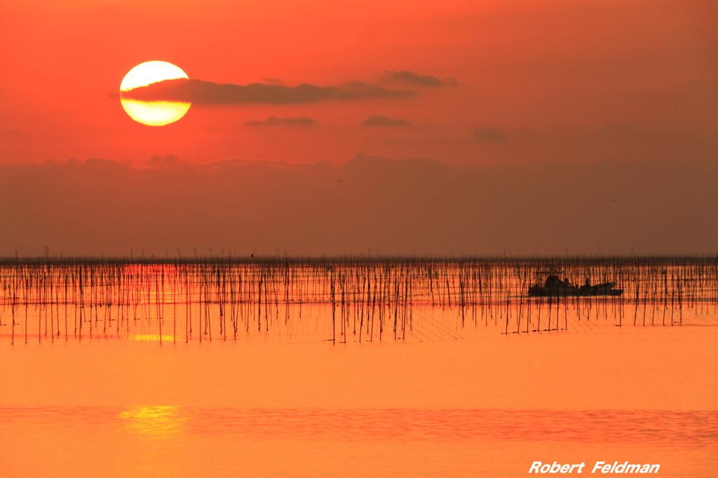 有明海の夕陽