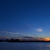 播磨灘の人工島に沈む夕日5