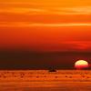 魚住住吉神社沖に沈む夕日