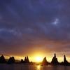 橋杭岩(はしくいいわ)の日の出3