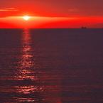 RICOH IMAGING PENTAX K-3で撮影した(冬の播磨灘に沈む夕日1)の写真(画像)