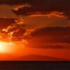 秋の播磨灘に沈む夕日13