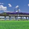 田んぼを行く新幹線6(エヴァ)