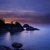 浦富海岸の夕日