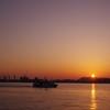 港神戸の夕日3