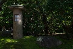 住吉神社の境内にて