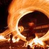 火振り神事-炎のパラソル
