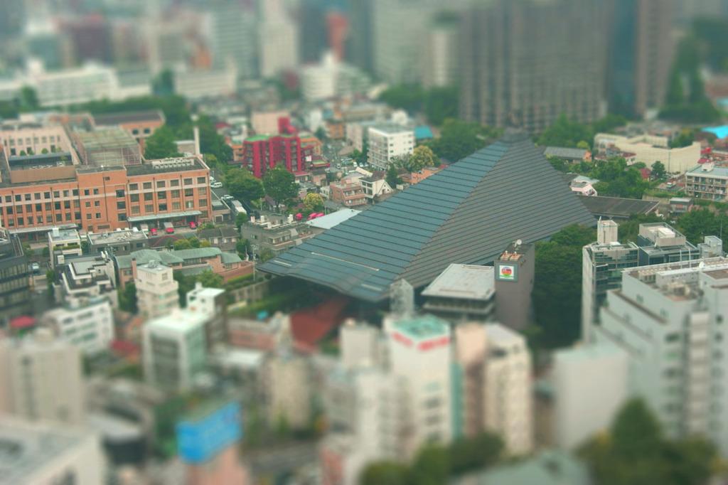 東京タワーから見る