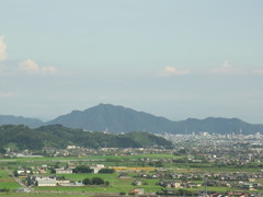 大谷山から金華山を望む