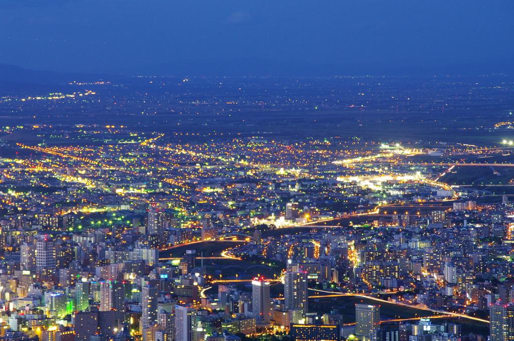 藻岩山から札幌の夜景②