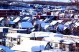 雪の三角屋根