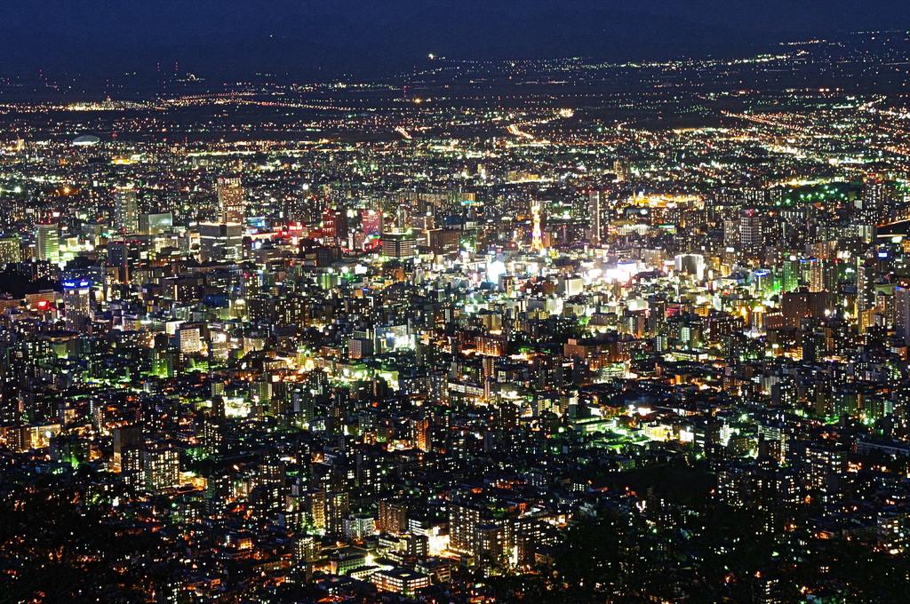 藻岩山から札幌の夜景⑦