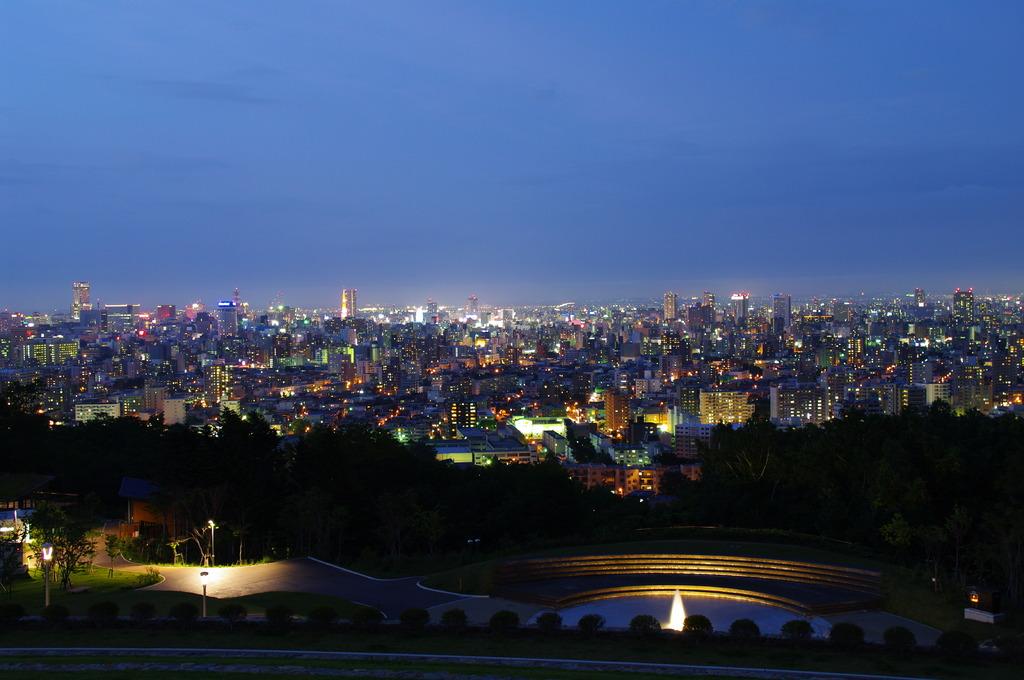 旭山公園から札幌を望む