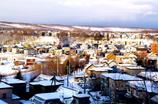 冬の丘の上から