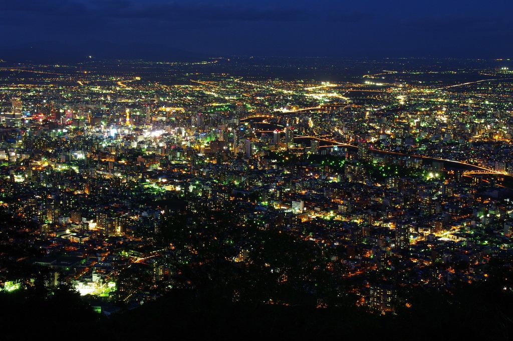 藻岩山から札幌の夜景⑤